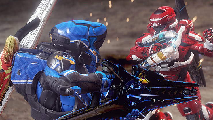 Two Halo players fighting
