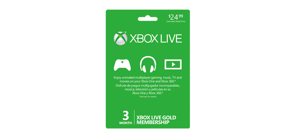 Xbox Live 3 Month Gold Membership banner