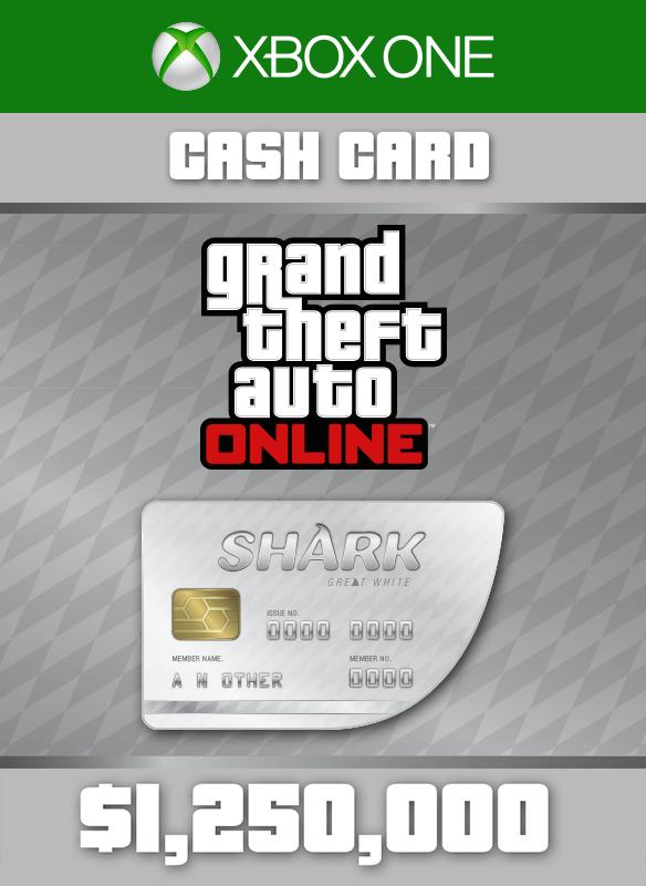 Grand Theft Auto V White Shark Card