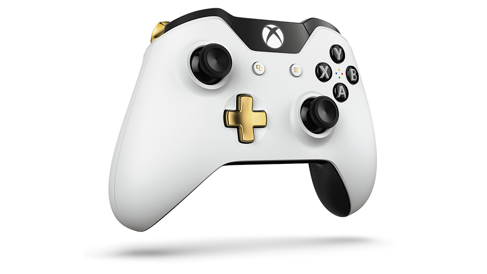 Lunar White Wireless Controller Angle 1