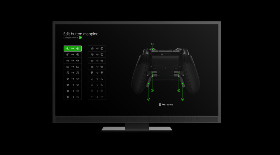 Elite Wireless Controller configuration settings