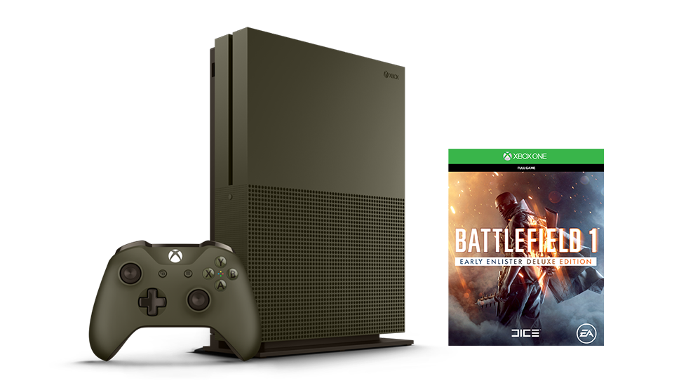 Boxshot of Xbox One S Battlefield 1 Bundle