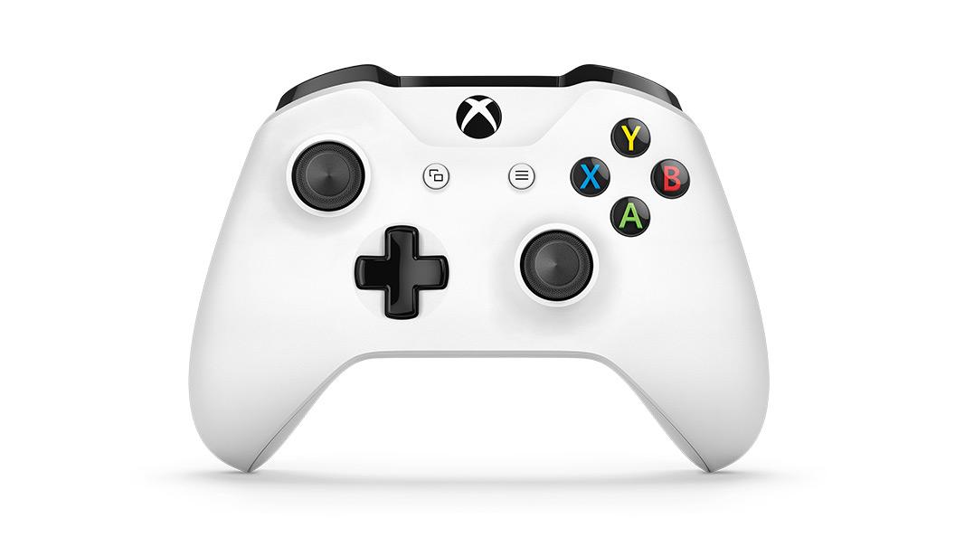 Comando Xbox One S virado para a frente