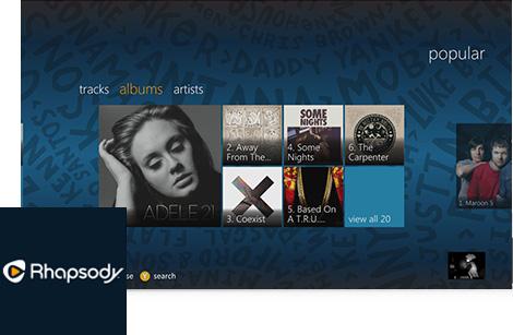 Rhapsody Xbox 360 app