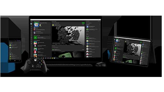 Xbox App accross screens