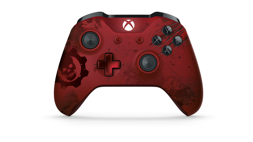 Front side of Crimson Omen Controller