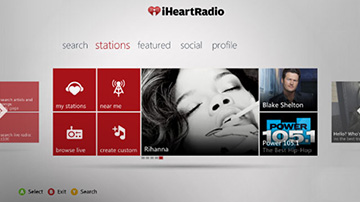 iHeartRadio on Xbox 360