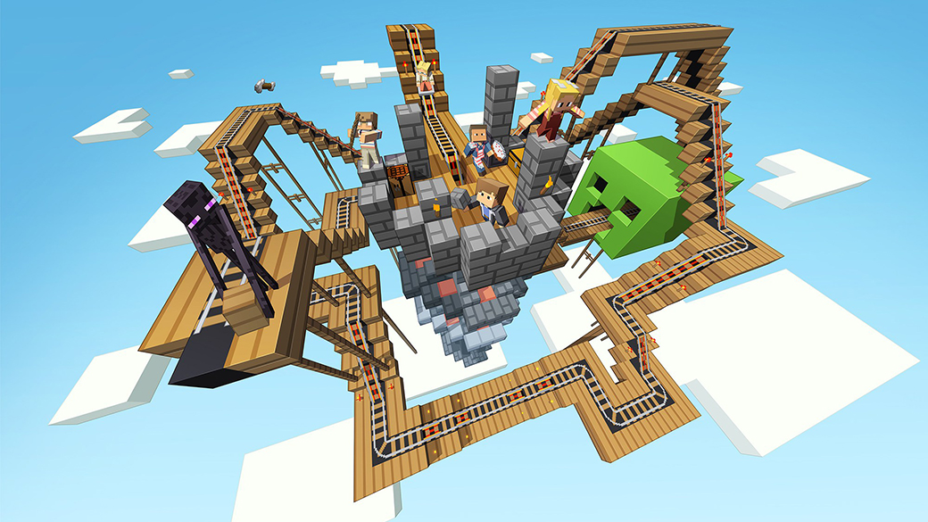 Minecraft railroad world