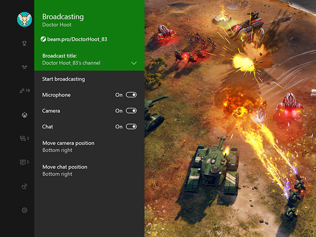 Built-in game broadcasting on Windows 10