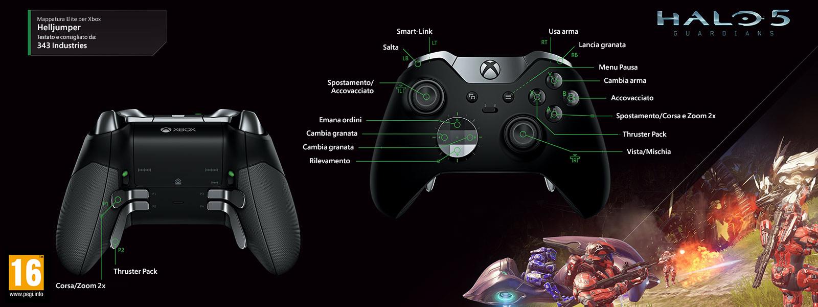 Halo 5 – Mappatura Elite per Helljumper