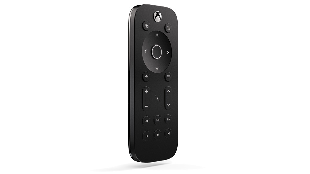Xbox one media remote front angle view