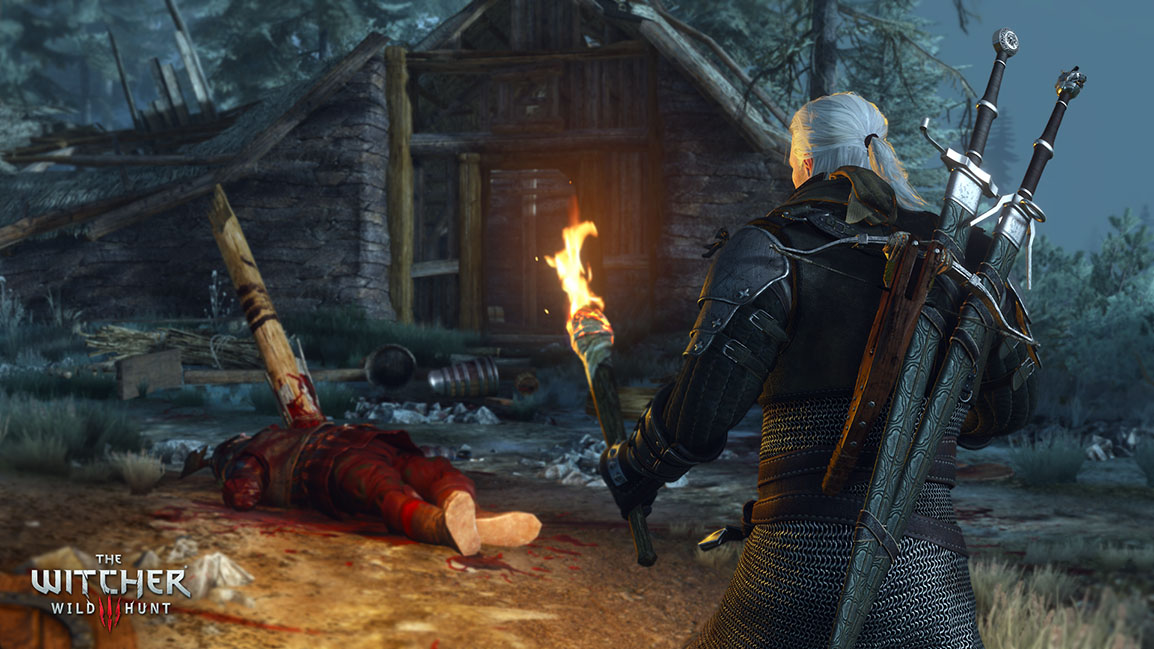 The Witcher 3: Wild Hunt, chalet dévasté