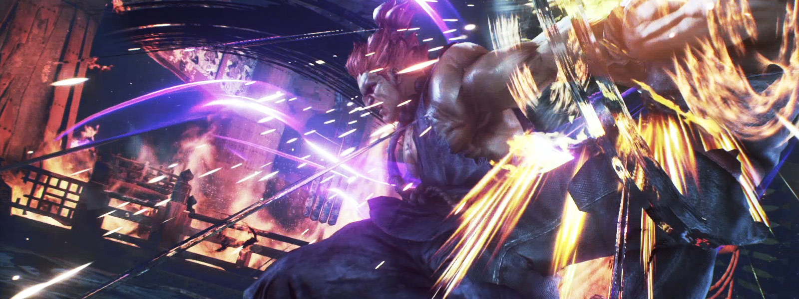 Akuma using his fireball attack