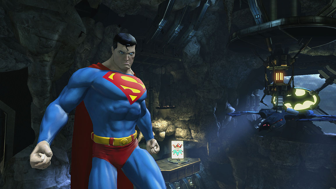 Superman in the Batcave