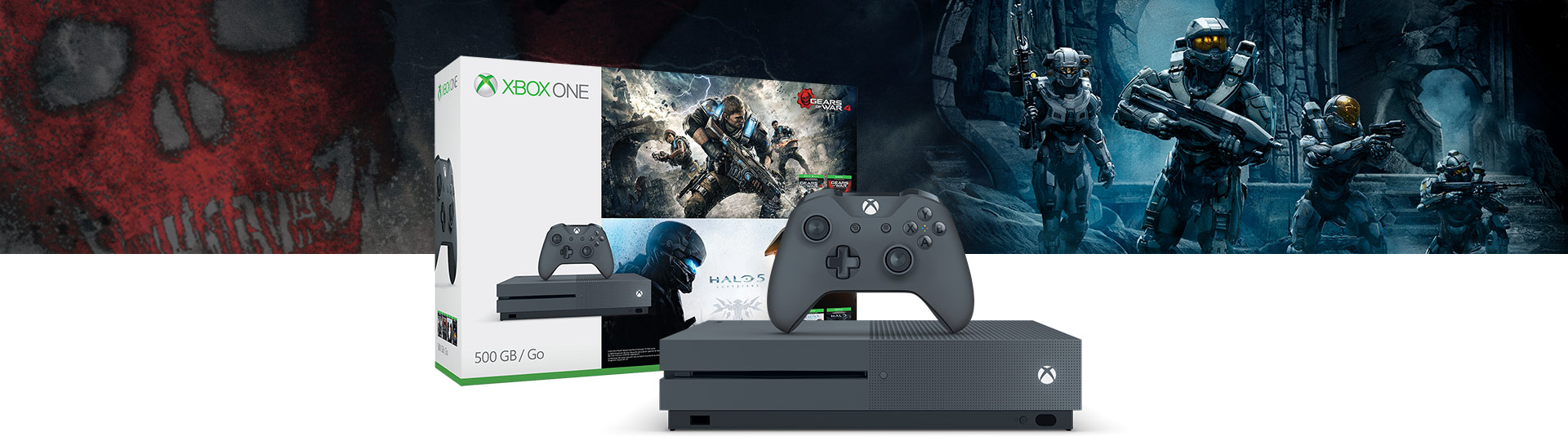 Xbox One S Gears of War and Halo Special Edition Bundle (500 GB)