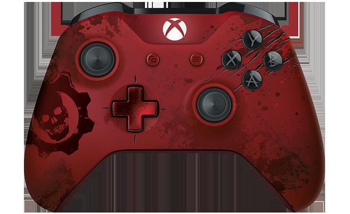 Control inalámbrico Xbox: Gears of War 4 Crimson Omen edición limitadar