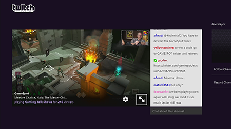 Chat with Twitch on Xbox One