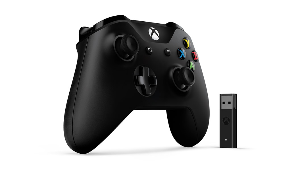 Xbox Controller + Windows 10 Adapter left view