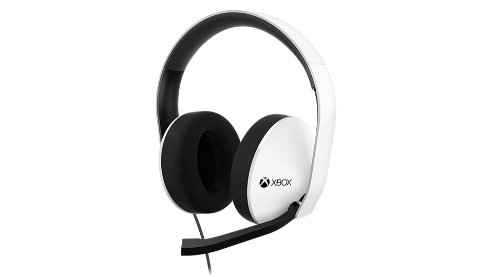Headphones angled right/ Mic down