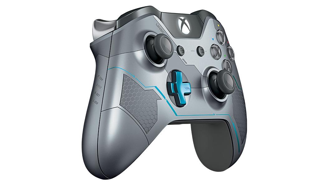 Halo 5 Guardians-controller set fra højre