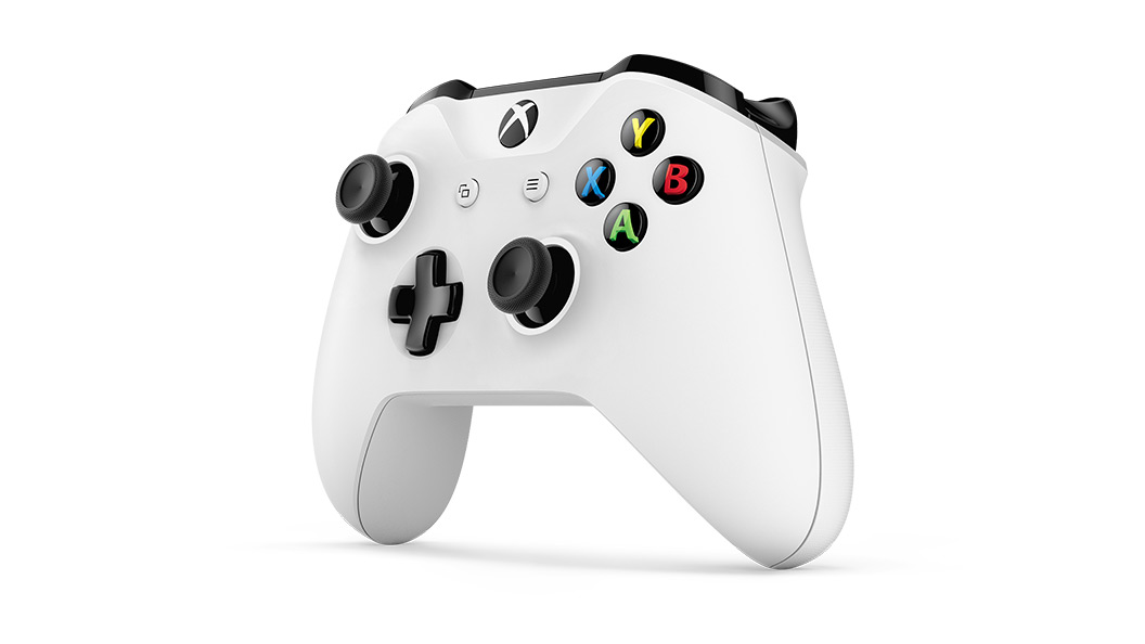 Vue inclinée de la manette Xbox One S