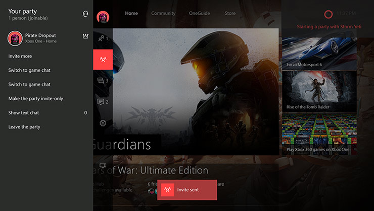 Cortana sur l'application Xbox