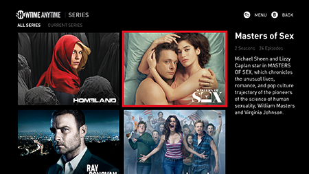 SHOWTIME ANYTIME Unlimited on-demand access