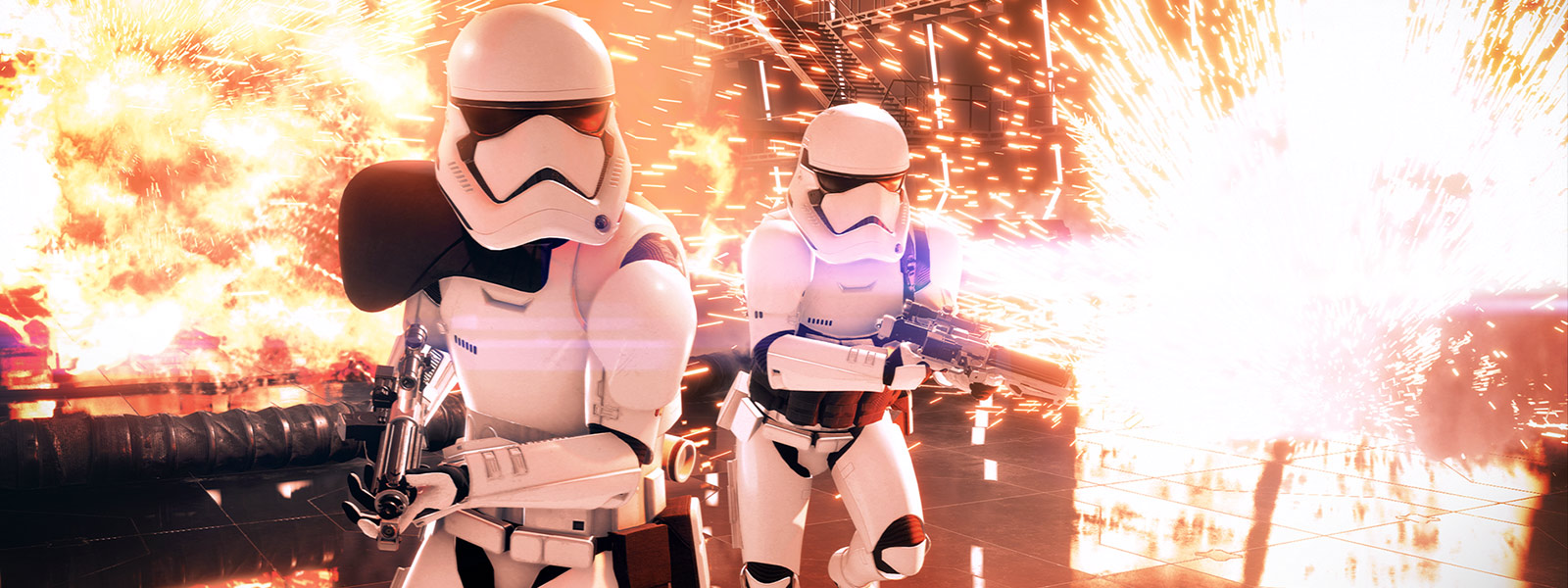 two storm troopers near explosion