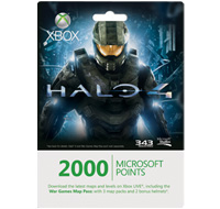 Xbox Live Halo 4 Map Pass with 2000 Points