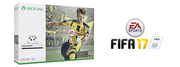 Xbox One S 500GB z grą EA SPORTS™ FIFA 17 za 999 zł