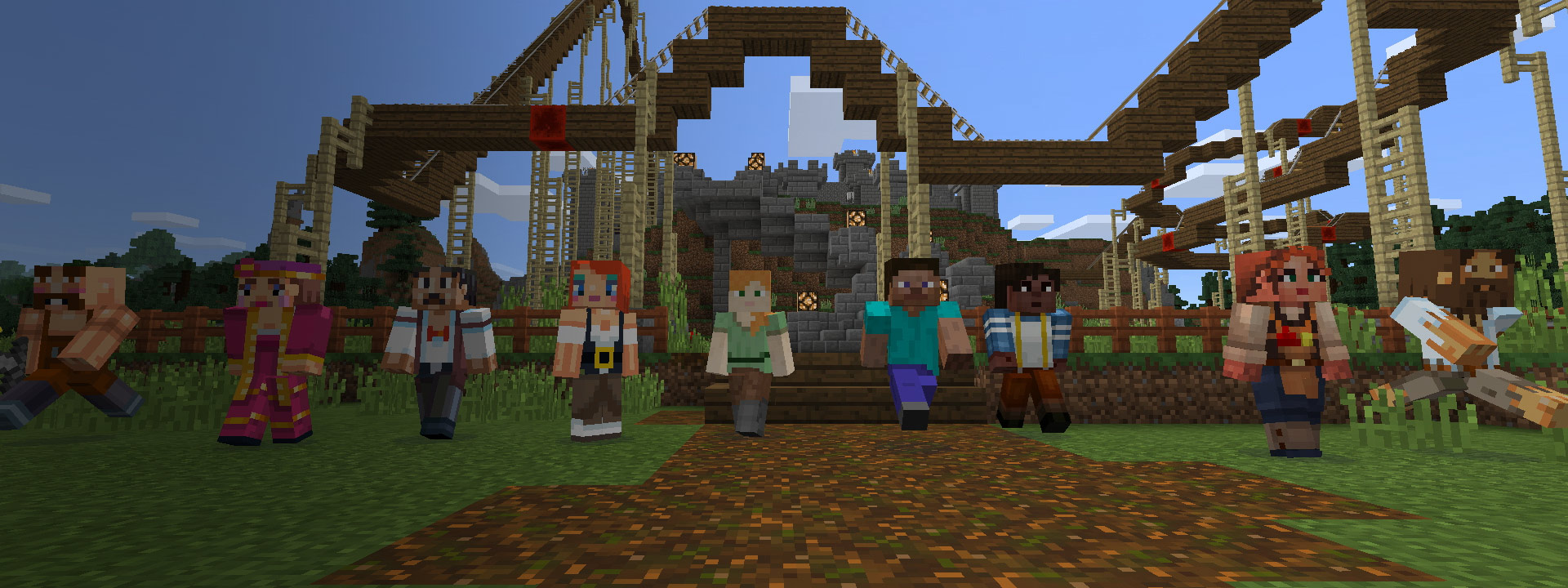 Minecraft Players joining to build