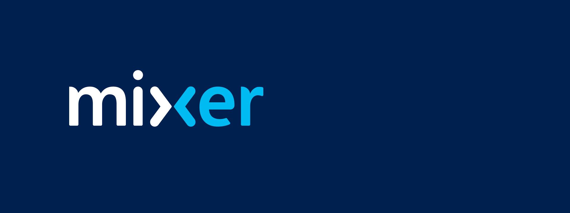 Mixer logo - Stop watching Start playing