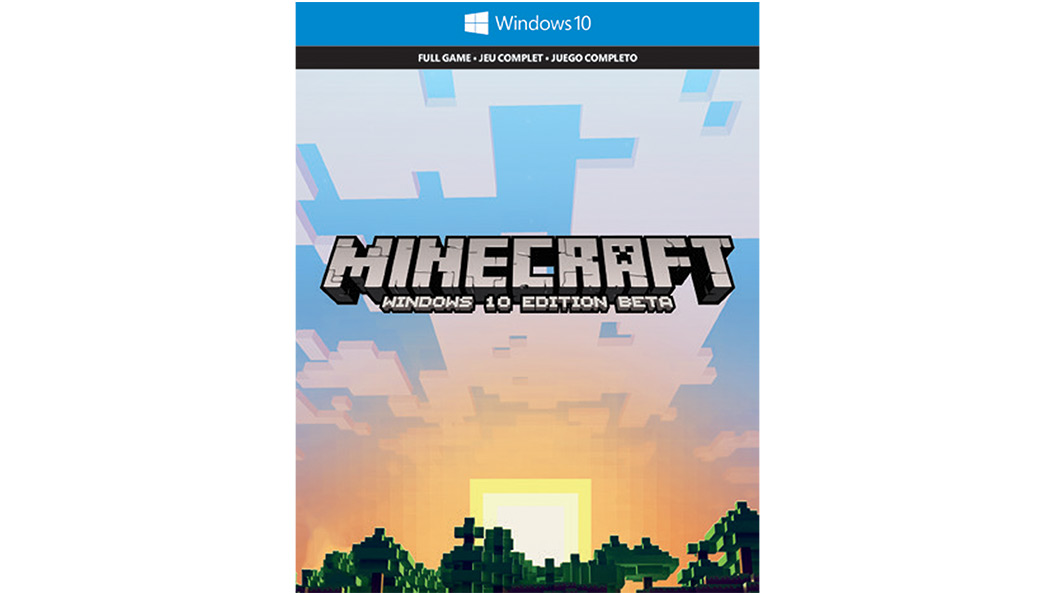 Minecraft windows 10 box shot