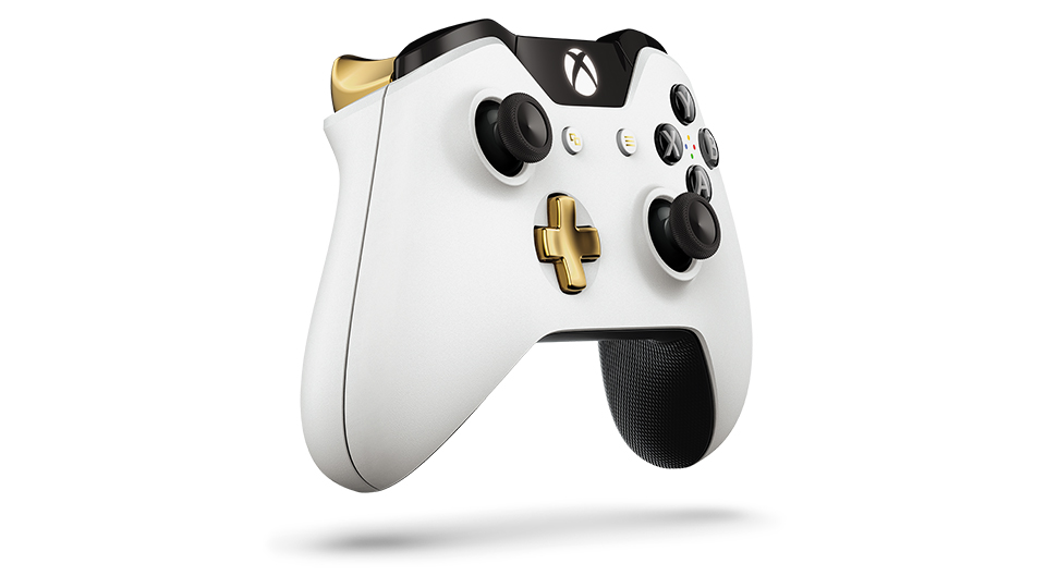 Lunar White Wireless Controller Angle 3