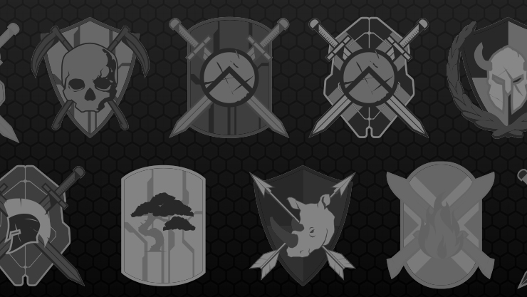 Collage of halo banners