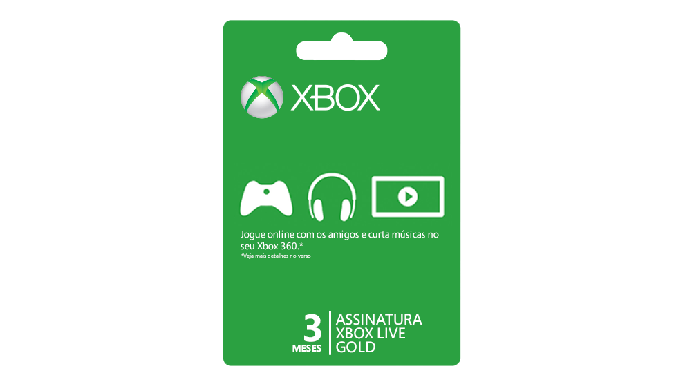 Membresía Xbox Live Gold de 3 meses
