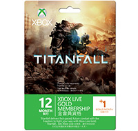 Titanfall Live Gold Subscription Card