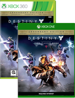 Destiny on Xbox One and Xbox 360 box shots