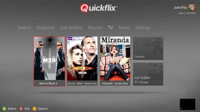 Quickflix on Xbox360