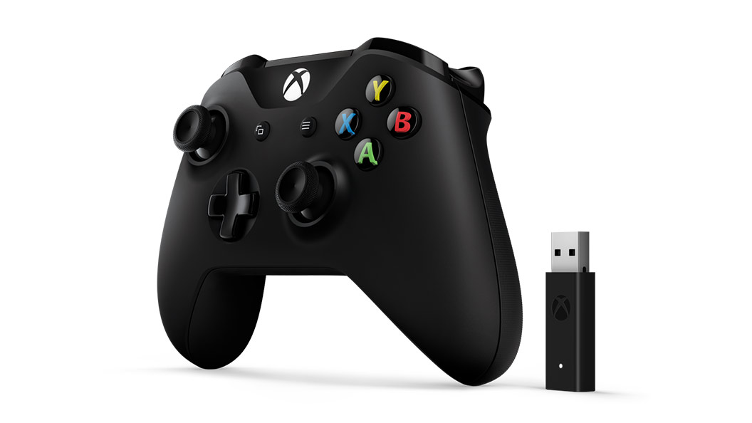 Xbox Controller + Windows 10 Adapter right view