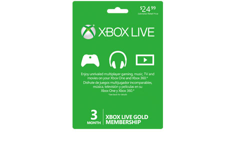 Xbox Live 3 Month Gold Membership
