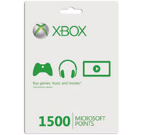 Xbox Live 1500 Microsoft Points