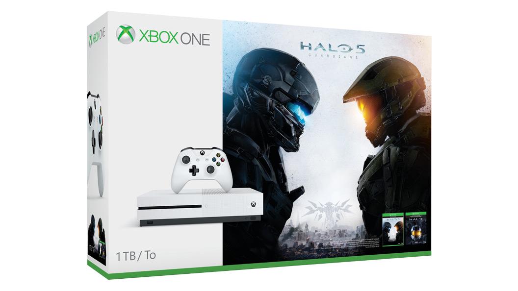 Xbox One S 1TB (Halo Collection 同梱版) のパッケージ写真