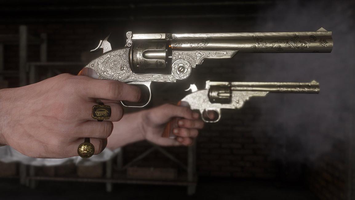 Dual-wielding revolvers