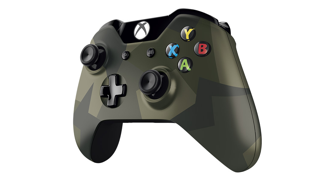 Left angled view of Armed Forces Special Edition Wireless Controller