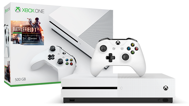 Xbox One S Battlefield 1 Bundle (500GB)